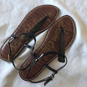 Sam Edelman black thong ankle strap size 10